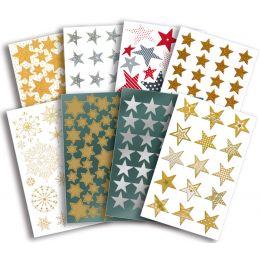 AVERY Zweckform ZDesign Weihnachts-Sticker Sterne, Display