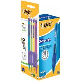 BIC Gelschreiber Gelocity, blau + Druckbleistift, PROMOPACK