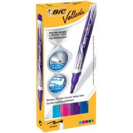 BIC Whiteboard Marker Velleda Liquid Fashion, 4er Etui