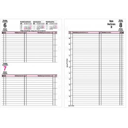 bind Ersatzkalender 2019 für Terminplaner A5 Modell 15501