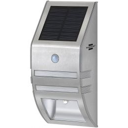 brennenstuhl Solar LED-Wandleuchte SOL WL-02007, Edelstahl