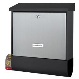 BURG-WÄCHTER Stahl-/Edelstahl-Briefkasten London-Set