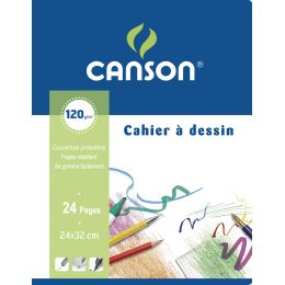 CANSON Zeichenblock, blanko, 120 g/qm, 170 x 220 mm