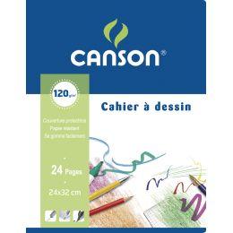 CANSON Zeichenblock, blanko, 120 g/qm, 240 x 320 mm