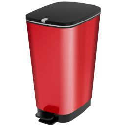 CEP Tret-Abfalleimer, 45 Liter, rot/schwarz