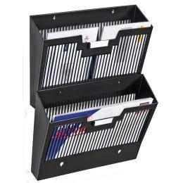 CEP Wandprospekthalter Basic, DIN A4, 1 Fach, schwarz