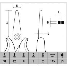 C.K ESD Flachzange Ecotronic T3891