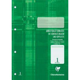 Clairefontaine Arbeitsblock, DIN A4, Lineatur 1, 50 Blatt