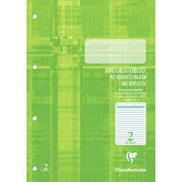 Clairefontaine Arbeitsblock, DIN A4, Lineatur 2, 50 Blatt