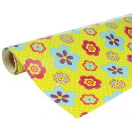 Clairefontaine Geschenkpapier Blumen, auf Rolle