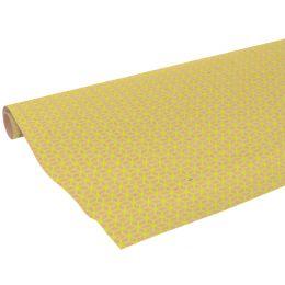 Clairefontaine Geschenkpapier Kubik gelb, auf Rolle