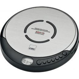 CLATRONIC Tragbarer CD-Player CDP 7001, silber/schwarz