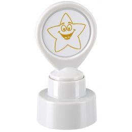 COLOP Motivationsstempel Goldener Stern, weiß