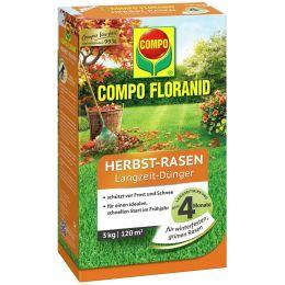 COMPO FLORANID Herbst-Rasen Langzeit-Dünger, 3 kg für 120 qm