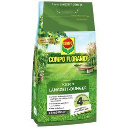 COMPO FLORANID Rasen Langzeit-Dünger, 12 kg für 480 qm