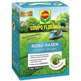 COMPO FLORANID Robo-Rasen Langzeit-Dünger, 6 kg für 240 qm