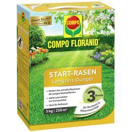 COMPO FLORANID Start-Rasen Langzeit-Dünger, 5 kg für 250 qm