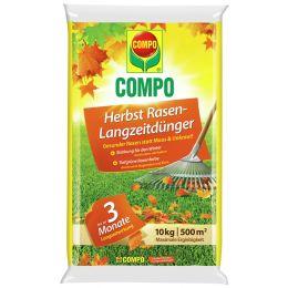 COMPO Herbst Rasen-Langzeitdünger, 10 kg für 500 qm