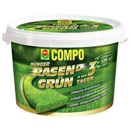 COMPO Rasendünger RASEN(D) Grün, 3,75 kg für 125 qm