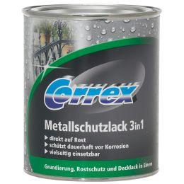 Correx Metallschutzlack 3in1, dunkelgrün, 750 ml