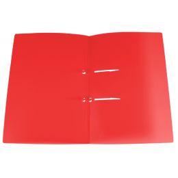 dataplus Schnellhefter UNO, aus Kuststoff, rot-transparent