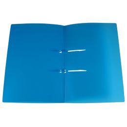 dataplus Schnellhefter UNO, aus Kunststoff, blau-transparent