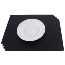dataplus Tischset, aus PP, 4-teilig, schwarz