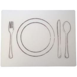 dataplus Tischset Besteck, 2-teilig, transparent