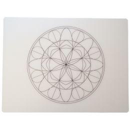 dataplus Tischset Mandala, 2-teilig, transparent