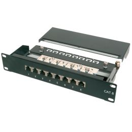 DIGITUS 10 Patch Panel Kat.6, Klasse E, 8 x RJ45, 1 HE