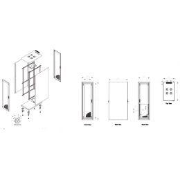 DIGITUS 19 Serverschrank Eco-Line, 26 HE, lichtgrau