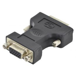 DIGITUS Adapter, DVI 24+5 Pol Stecker - 15 Pin VGA Buchse