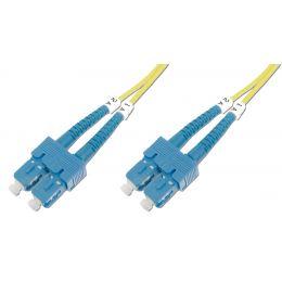 DIGITUS LWL Patchkabel, SC-Duplex - SC-Duplex, OS1, 3,0 m