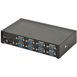 DIGITUS VGA Splitter 350 MHz, 8-fach, Metallgehäuse, schwarz
