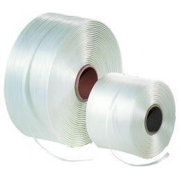 dm-folien Umreifungsband, aus PET, natur, (B)19 mm