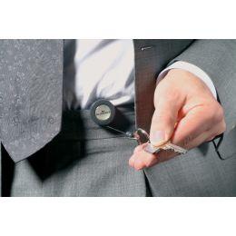 DURABLE Ausweishalter mit Schlüsselring, anthrazit