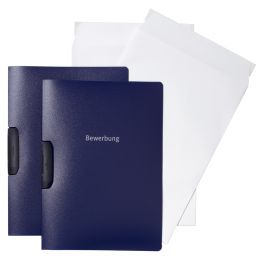DURABLE Bewerbungs-Set DURASWING JOB, DIN A4, blau