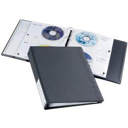 DURABLE CD-/DVD-INDEX Ringbuch 40, für 40 CDs, anthrazit