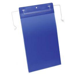 DURABLE Drahtbügeltasche, A4 hoch, blau