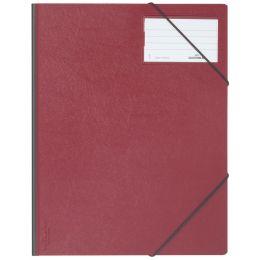 DURABLE Eckspanner Premium, DIN A4, Hartfolie, rot