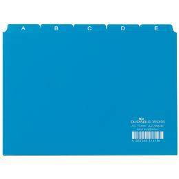 DURABLE Karteiregister A - Z, PP, A5 quer, blau, 25-teilig