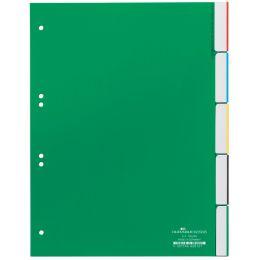 DURABLE Kunststoff-Register, PP, Stärke: 0,12 mm, 5-teilig
