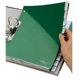 DURABLE Kunststoff-Register, PP, Stärke: 0,12 mm, 10-teilig