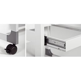 DURABLE PC-Arbeitsplatz SYSTEM Computer Trolley 75 VH