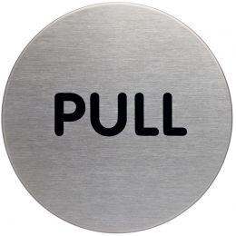 DURABLE Pictogramm Pull, Durchmesser: 65 mm, silber