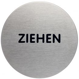 DURABLE Piktogramm Ziehen, Durchmesser: 65 mm, silber