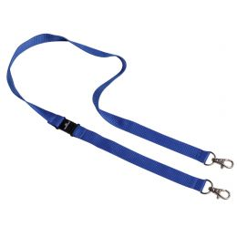 DURABLE Textilband Duo, Länge: 100 cm, dunkelblau