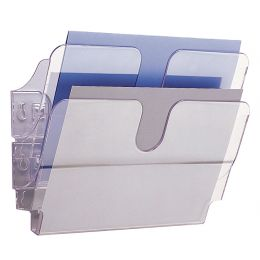 DURABLE Wand-Prospekthalter-Set FLEXIPLUS 2, A4, 2 Fächer