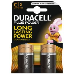 DURACELL Alkaline Batterie PLUS POWER, Baby C, 2er Blister