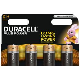 DURACELL Alkaline Batterie PLUS POWER, Baby C, 4er Blister
